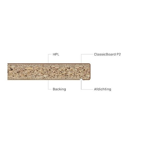 Pfleiderer Werkblad Duropal Quadra Marmer Carrara S63009 MS 39 mm