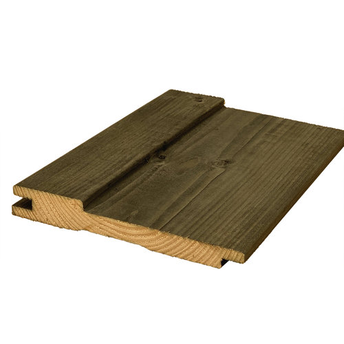 Shed grenen zwart geïmpregneerd (plank 4m20)