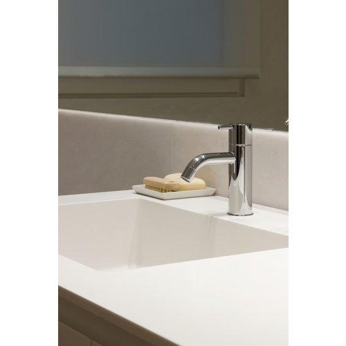 Betacryl Solid Surface Rechthoekige waskom BB R 614 Classic White zonder overloop 400 x 280 mm