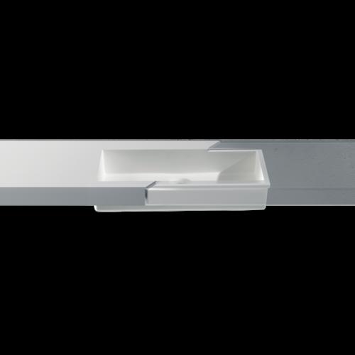 Betacryl Solid Surface Rechthoekige waskom BB R 617 Classic White zonder overloop 513 x 333 mm