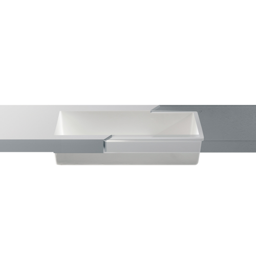Betacryl Solid Surface Rechthoekige waskom BB R 620 Classic White zonder overloop 600 x 340  mm