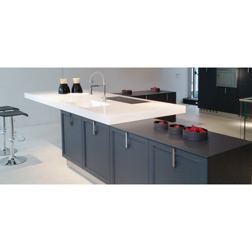 Betacryl Solid Surface Keukenspoelbak 160 x 350 mm zonder overloop BS 1635 Classic White