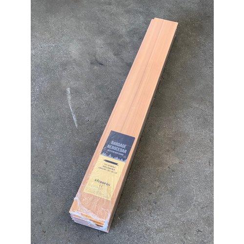 Gevel Mussenbek Ceder 18 x 130 x 1850 mm (5 stuks)