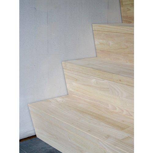 Rubberwood 44 mm in A/B  kwaliteit 4500 x 1100 mm