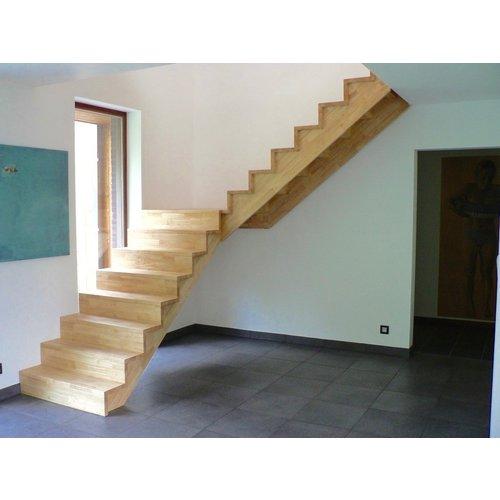 Rubberwood 4500 x 650 x 40 mm  A/B kwaliteit
