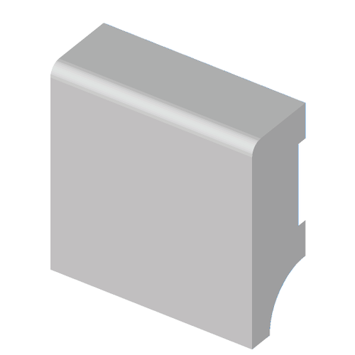 Plint MDF 40 mm met grondlak