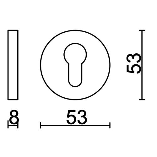 HDD Cylinderplaatje Shape zwart