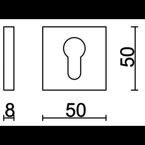 HDD Cylinderplaatje Kubic Shape Zwart