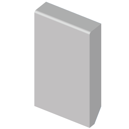 Plint MDF 68 mm met grondlak
