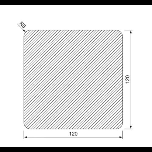 Tuinpaal 120 x 120 mm met 4 afgeronde hoeken