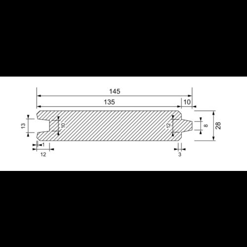Blokhutmodel T/G 28 x 130 mm