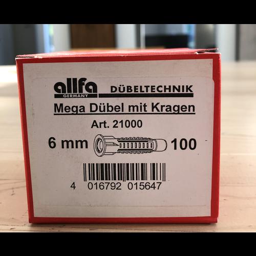 Allfa Allfa Multiplug 6 mm - 100 stuks per doos