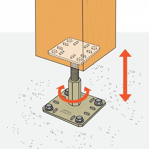 Verstelbare kolomvoet Kit Fix