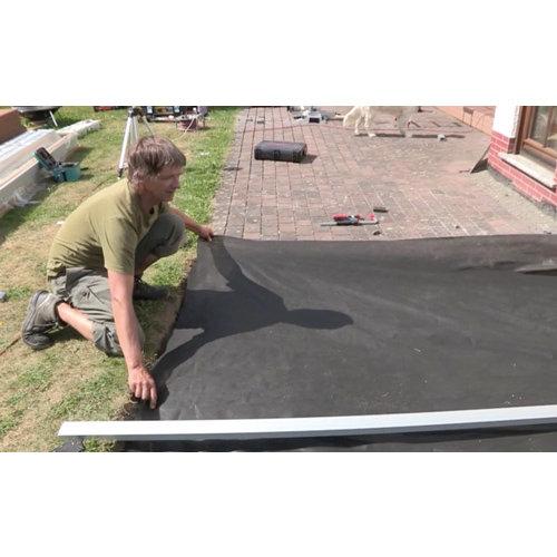Onkruiddoek zwart 10 x 1,5 M