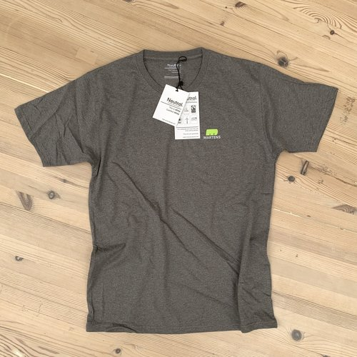 "T-shirt ""I LOVE HOUT"" Donkergrijs Organic Fairtrade"