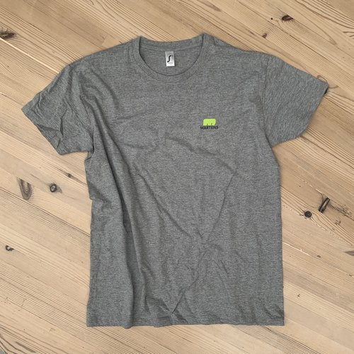 "T-shirt ""I LOVE HOUT"" Lichtgrijs"