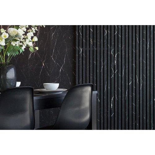 Maestro Design Wand Black Marble Calm CA 130 in 287 x 2766 x 10 mm - 4 panelen per pak