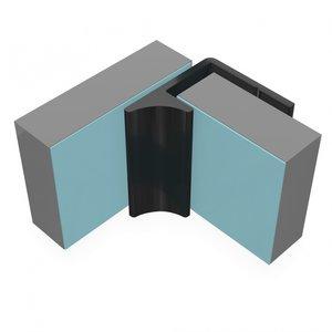 Multipanel Halve binnenhoekprofiel EMPIAL 2600 mm