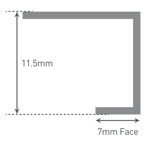 Multipanel Eindkapprofiel EMPEC 2600 mm