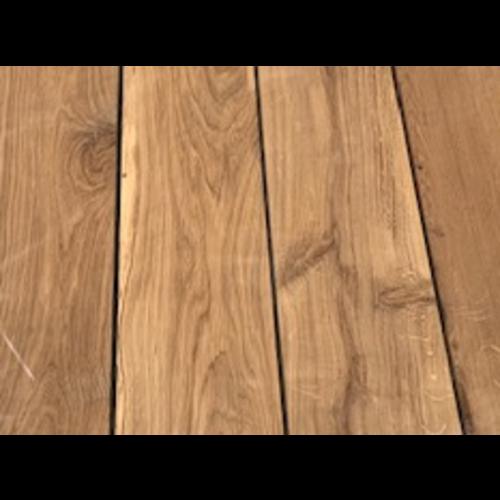 Massief houten werkblad  eik rustiek C 40 mm voor buitengebruik