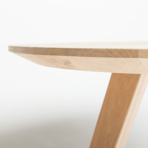 Massief houten werkblad eik rustiek C ovaal NL  40 mm  Facet Elegant