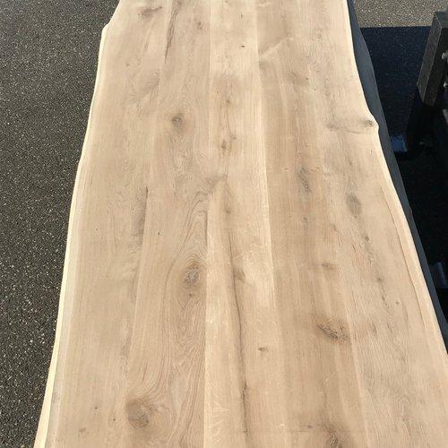 Massief houten werkblad  boomkant eik rustiek C 40 mm