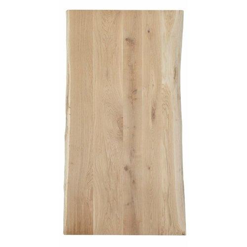 Massief houten werkblad  boomkant eik rustiek C 80 mm
