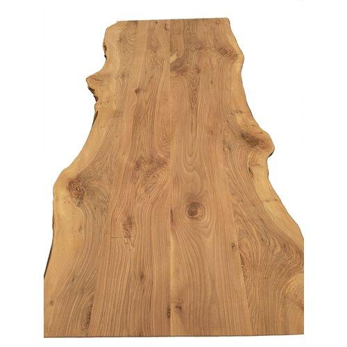 Massief houten werkblad boomkant Europees Noten 50 mm
