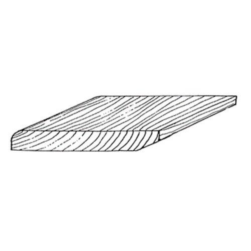 Plint eik 12 x 68 mm (per meter)