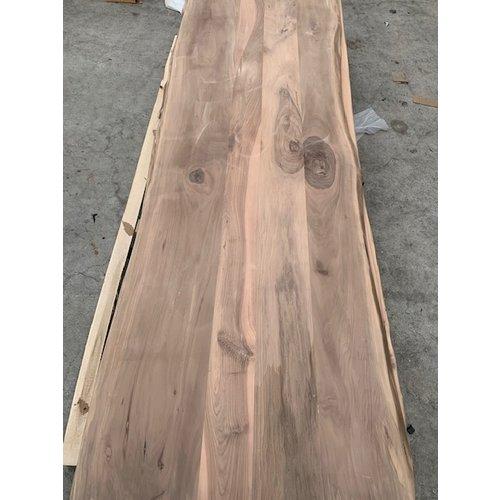 Massief houten werkblad boomkant Europees Noten  2200 x 1000 x 27 mm