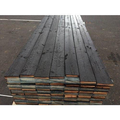 Shou Sugi Ban Gebrand Lariks 20 x 140 mm  met 2 coat sealer (per m2)