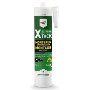 TEC7 Professional X-TACK Extreme montagelijm wit - zwart - grijs 290 ml