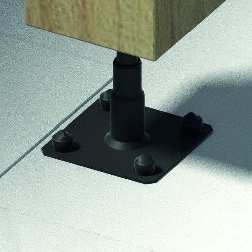 Nuance Regelbare paalvoet zwart 100/150 mm