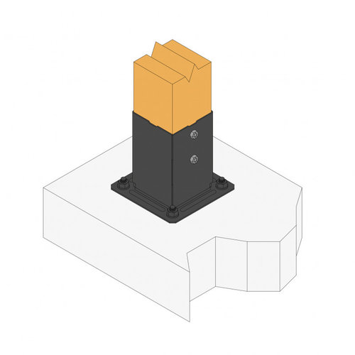 Nuance Vierkante pergolavoet 150mm zwart 71 x 71 x mm  & 91 x 91 mm