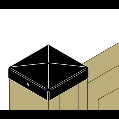Nuance Paalkap piramide zwart