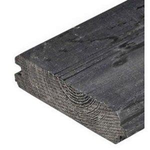 Blokhutmodel zwart T/G 28 x 145 mm