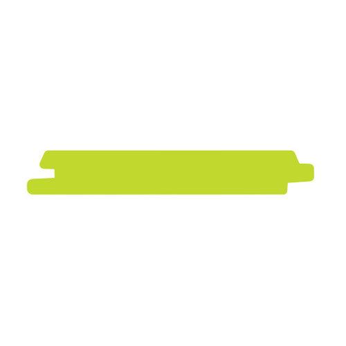 Gevel Mussenbek Thermowood Vuren PEFC Zwart 16 x 130 mm  (per meter - verpakt per pak van 5 dezelfde lengtes)