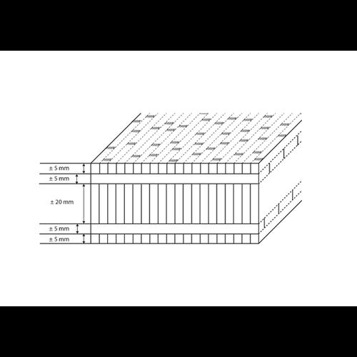 Bambootouch Bamboe werkblad naturel verticaal 2440 x 1220 x 40 mm