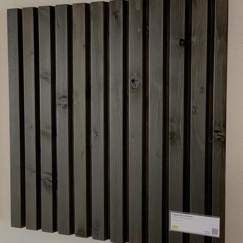 Trippel Thermo Vuren PEFC Zwart 25 x 130 (per meter) - per 3 stuks per lengte