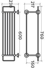 Venessia towel rack - outlet