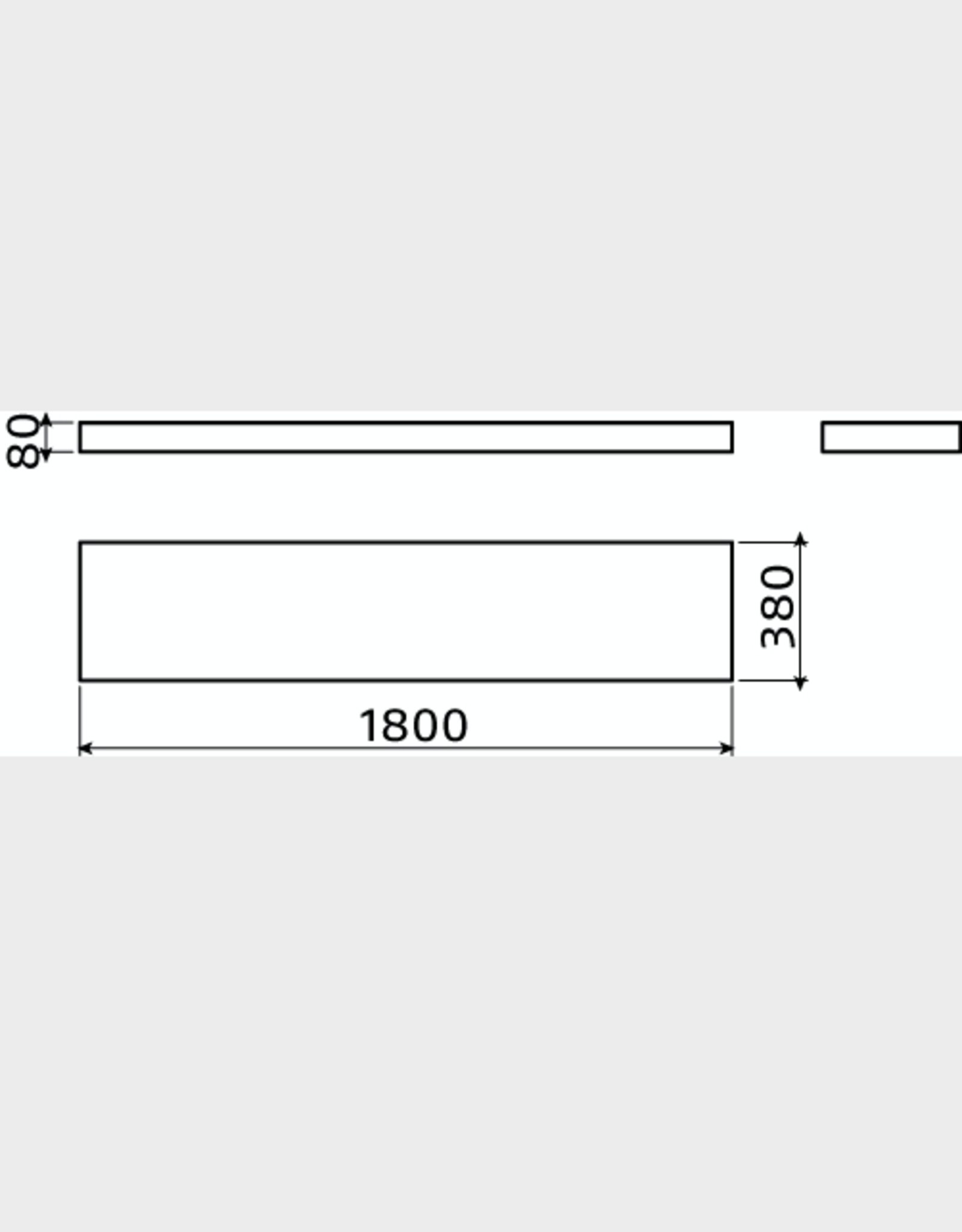 Match Me shelf 180 cm - outlet