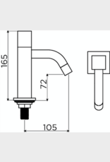 Freddo fonteinkraan rvs - uitverkoop