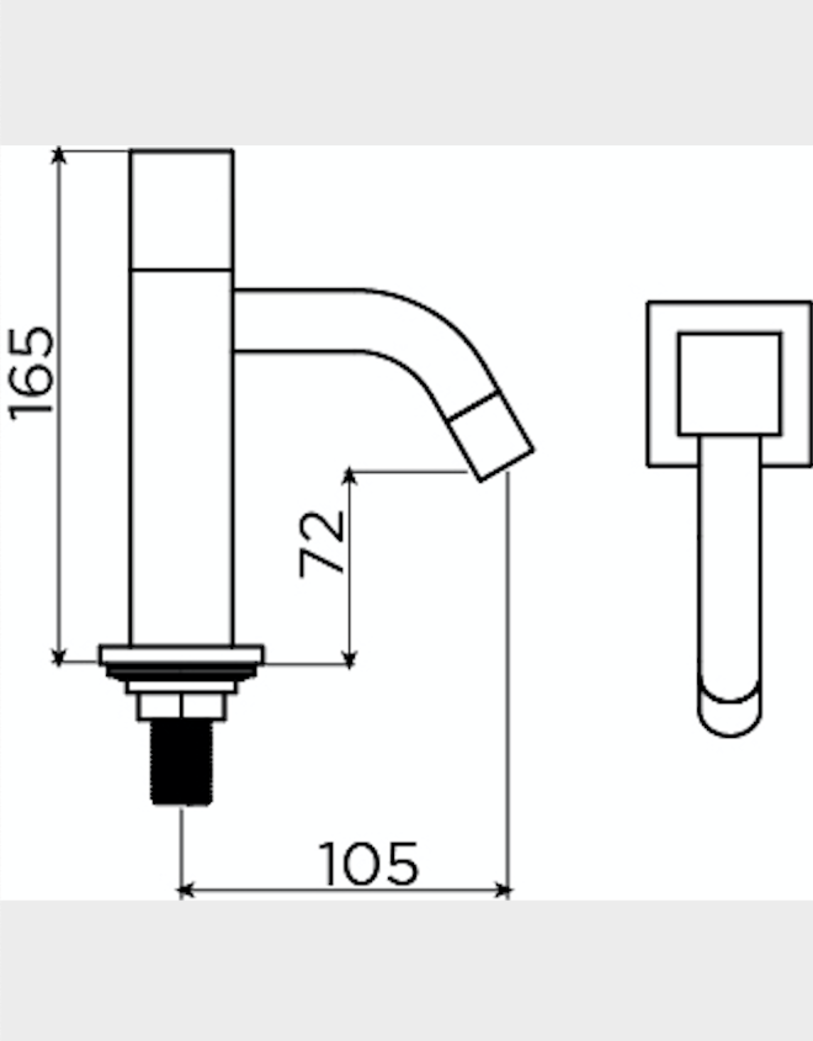 Freddo 5 cold water tap high - outlet