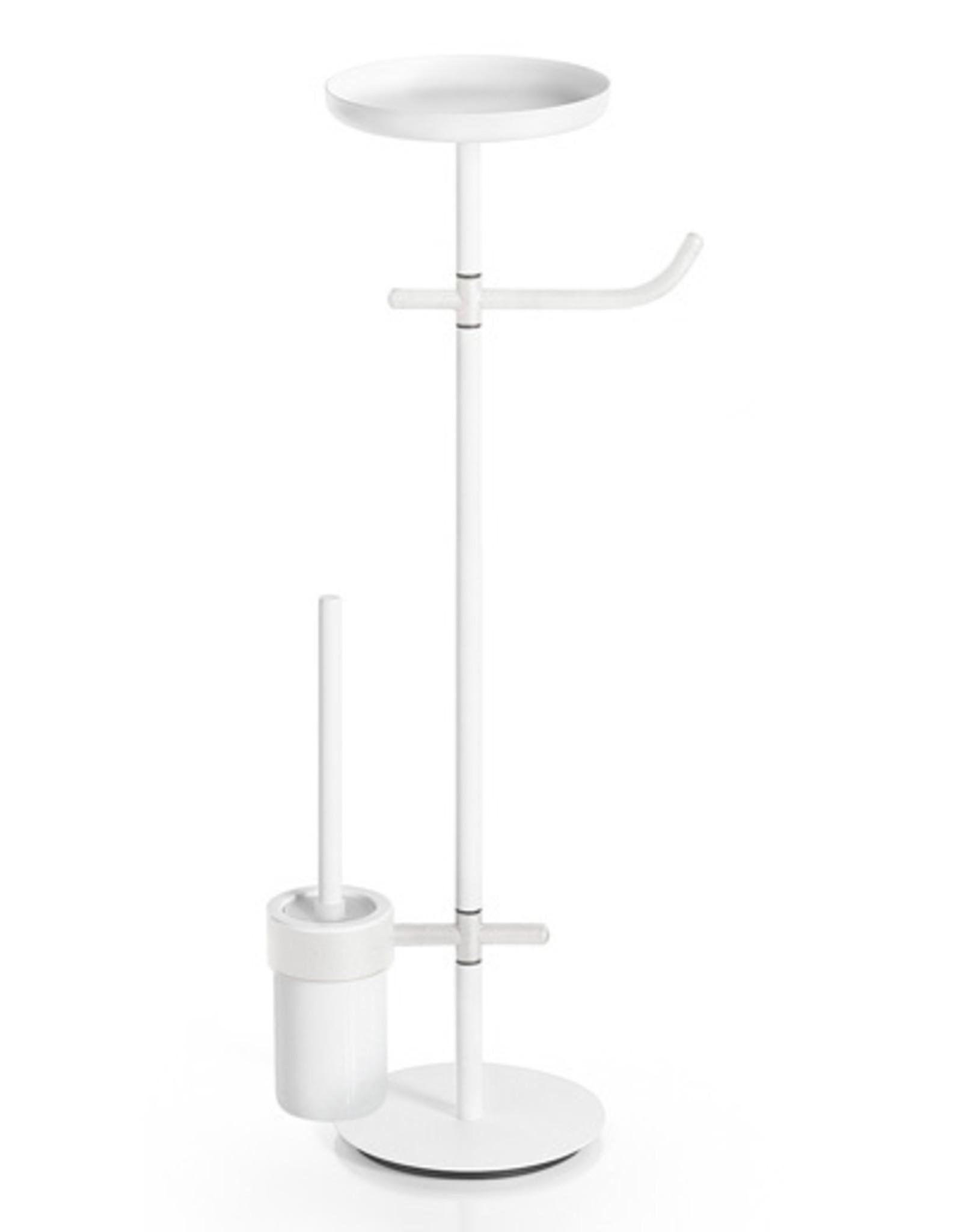 Ranpin toiletset op standaard, rond, wit - uitverkoop