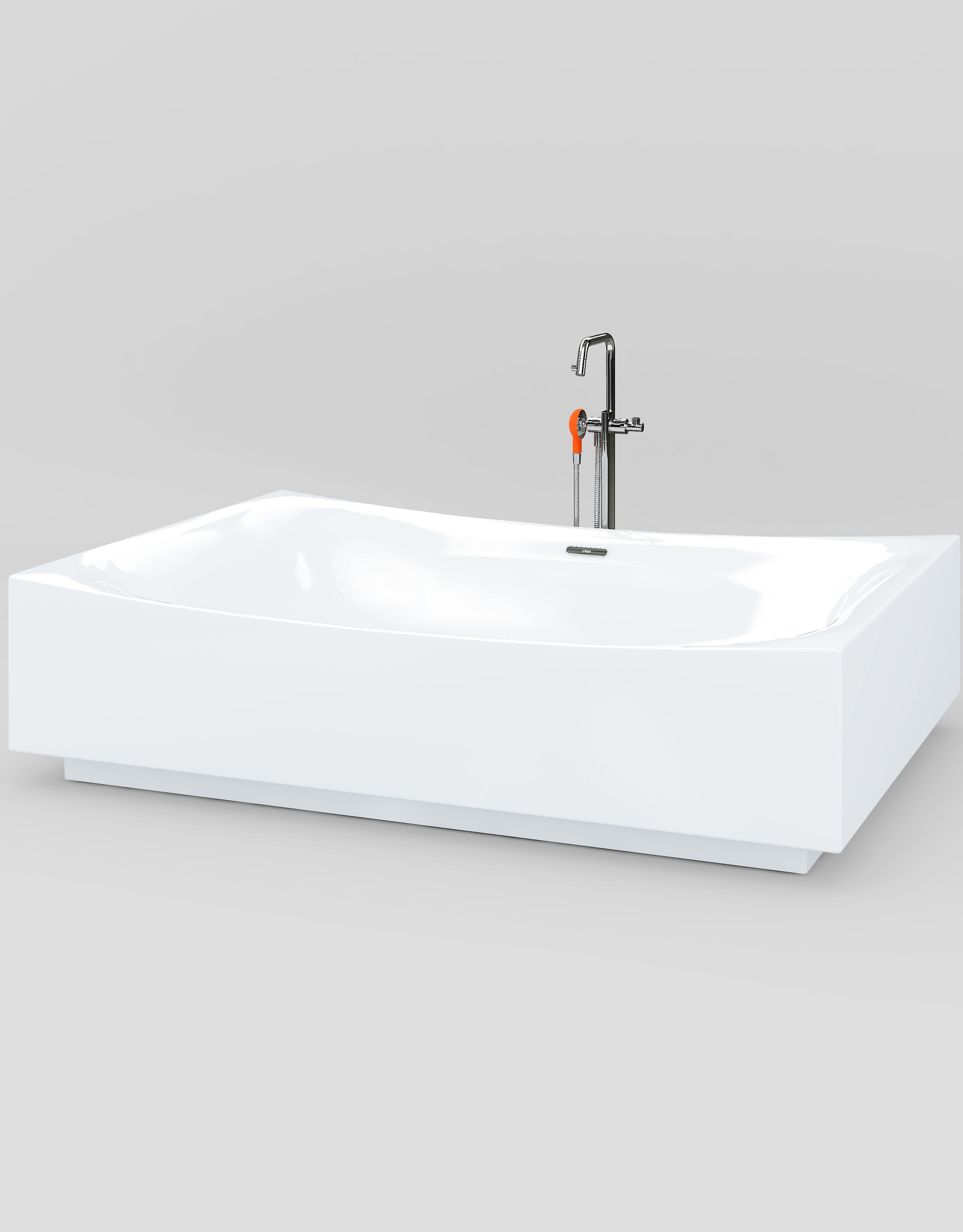 Hammock freestanding 2-person bathtub- outlet/product used at a fair