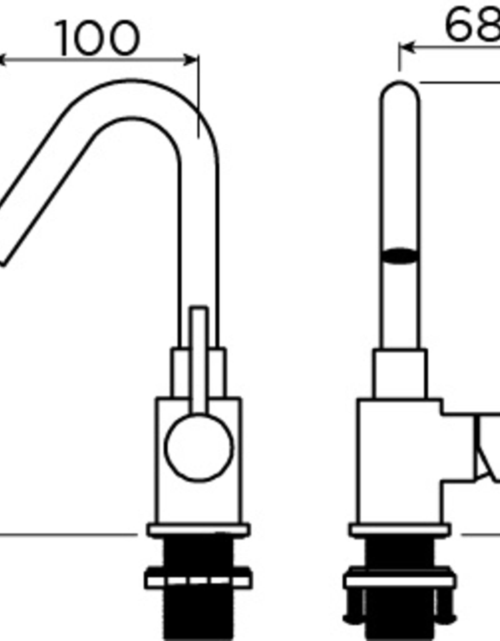 Xo Xo washbasin mixer type 7 - outlet