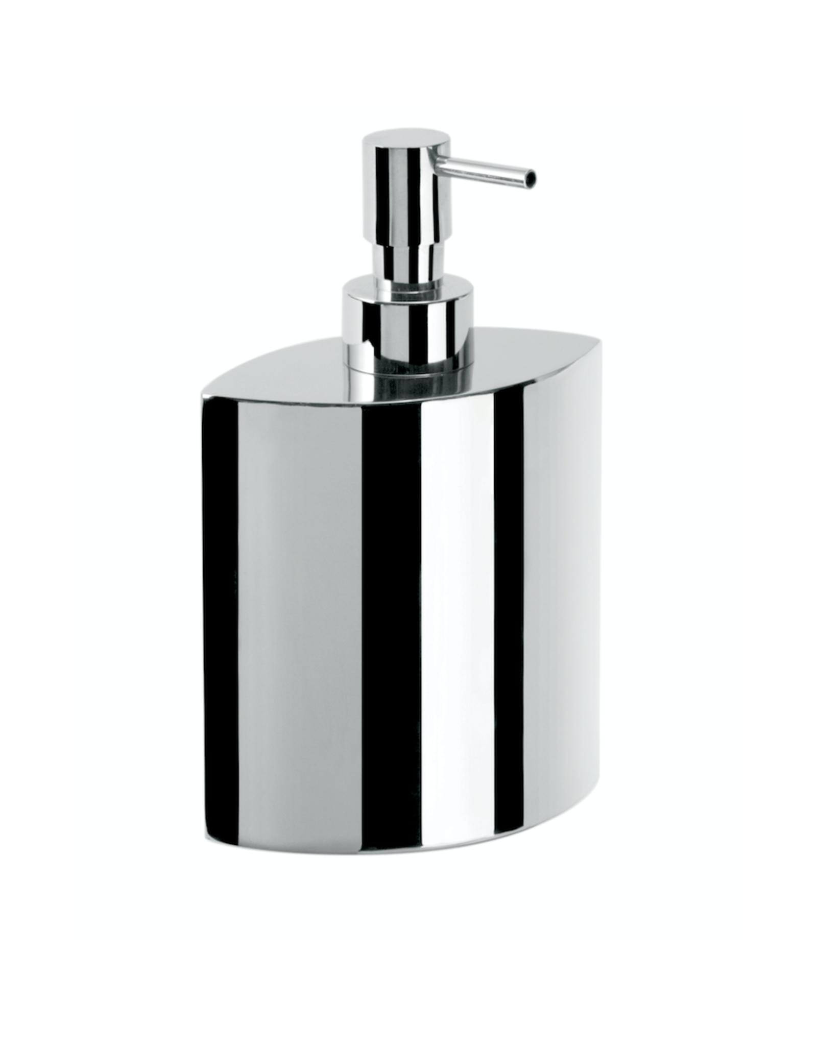 Saon liquid soap dispenser, oval, freestanding - outlet