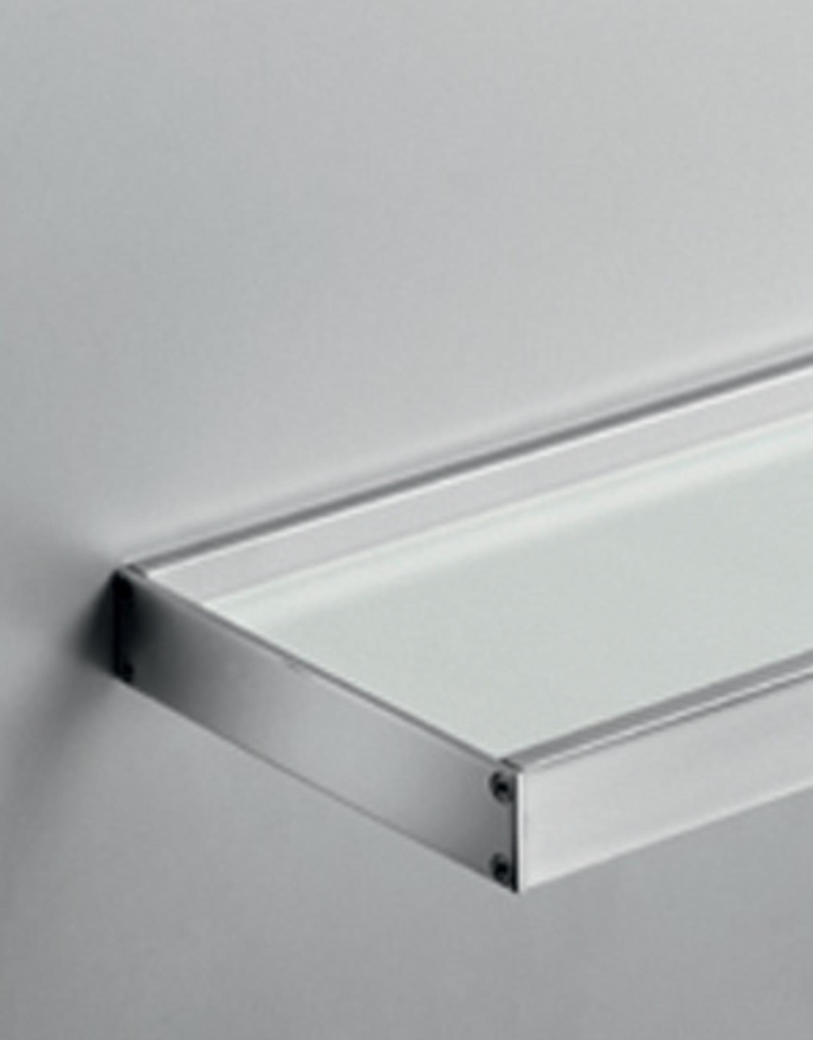 Skuara shelf 60cm, satin-finished glass/chrome - outlet