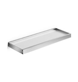 Skuara tablette 60cm, verre satiné/chrome - vente