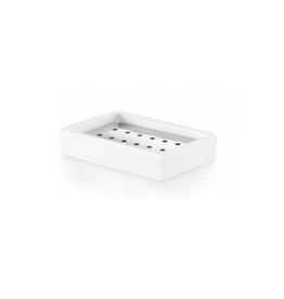 Saon soap dish, rectangle (4 pieces) - outlet